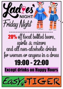 Ladies's Night @ Easy Tiger Hostel