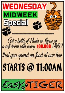 Wednesday Special @ Easy Tiger Hostel