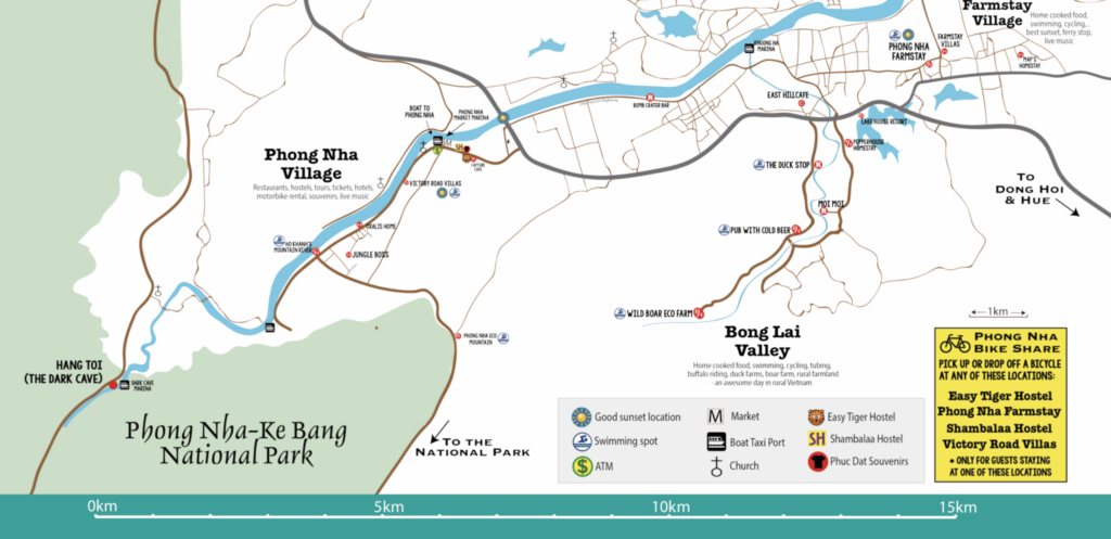 Bong Lai Valley Map, Phong Nha, Vietnam